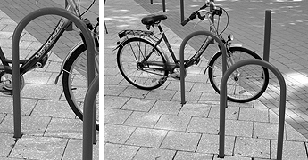 Bicycle parking arches/ bars/ ...