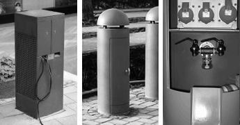 Power and water bollards